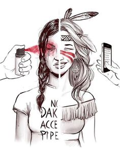 Beautiful & important art by @tyleramato · please tag them if you repost. #noDAPL #standingrocksioux #standingrock #waterislife