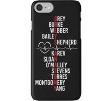 Grey's Anatomy cast names phone case