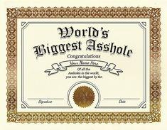 Custom Certificate by Griftahs on Etsy