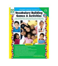 Instill a love of language in English Language Learners in grades PK–3 using Vocabulary Building Games and Activities. This 240-page book helps students build vocabulary to become successful English speakers. It provides dozens of strategies for teaching new words through storytelling, songs, and pictures books and includes more than 1,000 reproducible picture and word cards with a guide for selecting the appropriate words. The book also includes tips for supporting young English learners.