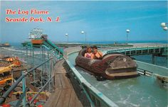 Seaside Park NJ log flume...it's not there anymore, but then again neither is the pier it was on (lost in Sandy then the fire, but the ride's been gone for years)