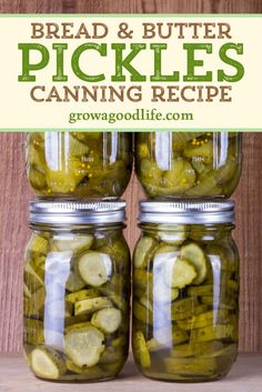 These old-fashioned bread and butter pickles are made from cucumbers, onions and pickling spices. The slightly sweet tangy flavor makes them perfect for topping your favorite burgers and sandwiches. Canned Bread And Butter Pickles Recipe, Sweet And Sour Pickles Recipe, Pressure Canning Recipes, Homemade Sandwich Bread, Canning Vegetables, Canning Pickles, Homemade Pickles, Sandwiches, Food Storage