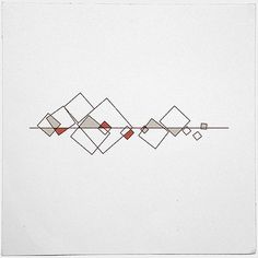 Minimal geometric tattoo idea