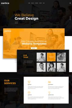 Zantica is a simple and interesting PSD template for Business agency, design studio, web-development company or freelancer. Website template is not complicated with excess details, but here you'll find everything you need to create your business website. Design Websites, Web Design Jobs, Web Design Quotes, Graphisches Design, Web Design Services, Web Design Tutorials, Web Design Trends, Web Design Company, Web Design Black