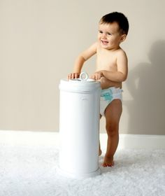 If you have a white or neutral nursery, this @ubbiworld diaper pail is a must-have. Also, it comes in almost every color in the rainbow!