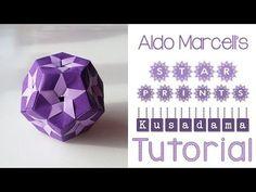 Origami Star Prints Kusudama Tutorial - YouTube