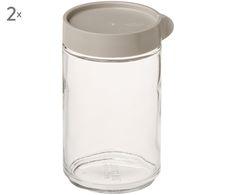 Braucht jede Küchenfee: Die gläserne Vorratsdose Lotta mit grauem Schraubverschluss ist der perfekte Küchenhelfer. Lassen Sie sich von GLASSLOCK bei >> WestwingNow inspirieren.