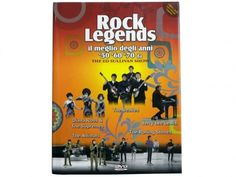 COLLANA DI 11 LIBRI E 11 DVD MUSICALI ROCK LEGENDS IL MEGLIO ANNI 50 60 70 ORIGINALI