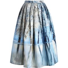Chicwish Icy Forest Pleated Midi Skirt and other apparel, accessories and trends. Browse and shop related looks.