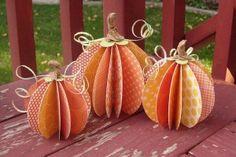 Scrapbook paper pumpkins