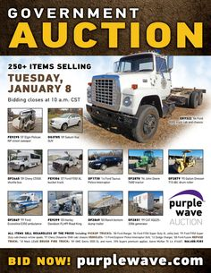 Purple Wave Auction (@purplewave) on Twitter Ford F550, Heavy Duty Trucks, Used Equipment, Used Trucks, Sale Promotion, Online Marketing, Tractors, Online Business, Auction