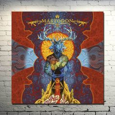 Mastodon - Heavy Metal Band Art Silk Fabric Poster Print 13x13 32x32inch Abstract Psychedelic Trippy Picture for Wall Decor 008