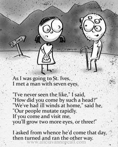 Apocalyptic Nursery Rhyme #8, Dark Humor, Art Print by Alicia VanNoy Call FREE SHIPPING Halloween Nursery Rhymes, Creepy Nursery Rhymes, Creepy Poems, Short Creepy Stories, Spooky Stories, Dark Nursery, Pomes, Dark Jokes, Rhymes For Kids