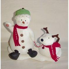 Hallmark Jingle Pals Singing Snowman And Barking Dog Plush