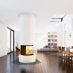 Homeplaza - Das neueste Kamin-Highlight verspricht luxuriöses Design und tolle Technik - Exklusive Rundum-Sicht für puren Feuergenuss