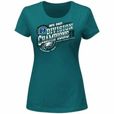 Philadelphia Eagles 2013 NFC East Division Champions Ladies T-Shirt -  Midnight Green 17f0b382d