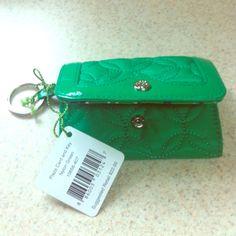 Vera Bradley NWT plaza card and key nylon green NWT Vera Bradley Bags