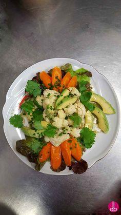 Blumenkohl Avocado Salat - vegan -