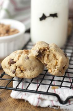 Thick, Chewy Chocolate Chip Peanut Butter Cookies   Wishes and Dishes