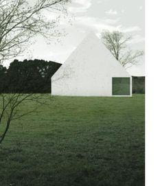 Casa-Fois - by Felipe Grallert Concrete Architecture, Space Architecture, Gothic Architecture, Residential Architecture, Architecture Details, Minimalist Architecture, Contemporary Architecture, Modern Barn, White Houses