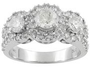 What a gorgeous anniversary, or 'past, present, and future' ring. Simply stunning! This style (especially in this size, lol) will never go out of favor.    PRE10243