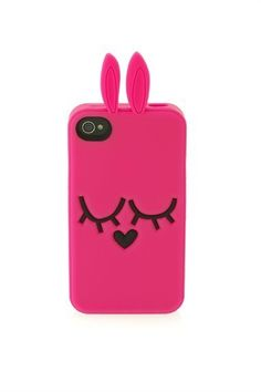 Heart nose fuchsia #bunny iPhone 4G case by Marc by Marc Jacobs. #iphone4 #rubbit