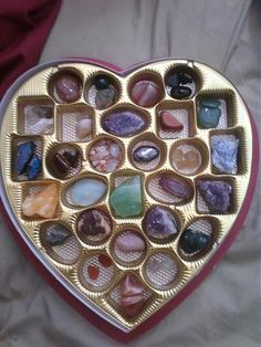 What a great way to store stones. @Bryn Donovan (I think you have a collection?)