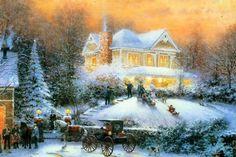 thomas-kinkade-christmas-wallpaper.jpg 1,200×800 pixels