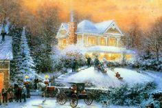 Known throughout the world for capturing the wonders and images of the everyday world, Thomas Kinkade is considered one of the most popular and renowned modern artists of his age. Description from world-wide-art.com. I searched for this on bing.com/images