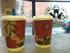 Fab Leeds cafe @outofthewoodsuk using our compostable Christmas cups :)