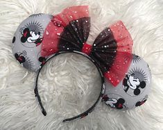 Mickey and Minnie Print Mouse Ears Diy Disney Ears, Disney Mickey Ears, Mickey Mouse Ears, Disney Diy, Disney Crafts, Disney Land, Disney Stuff, Walt Disney, Disney Outfits