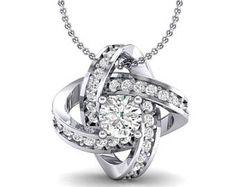 Lotus Oval Cluster Halo Diamond Pendant, Oval Pendant, Halo Diamond Pendant, Cluster Diamond, Christmas Gift, Halo Pendant, Women Jewelry