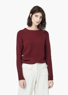 Jersey algodón canalé -  Mujer | MANGO