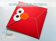 Super cute Elmo invite...and you could do this with a variety of characters