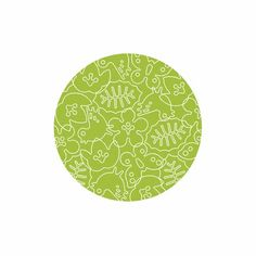 Seasons Round Rug in White and Lotus Green - $288