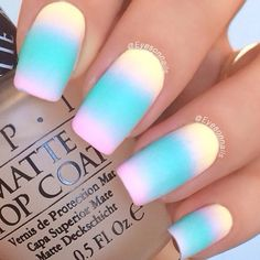 Color Club Pastel Neon collection Disco's Not Dead, Feathered Hair Out To There, Diggin' The Dancing Queen ; IsaDora Ocean Dive ; 9/28/15 ; eyesonnails
