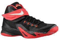 Legimate Nike Zoom Lebron Soldier 8 Black University Red Hyper Crimson White TopDeals