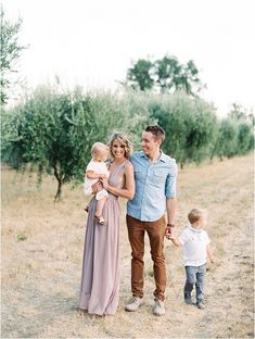 family photo outfits Napa Olive Grove family portrait session by Jessica Kay