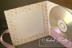 Lullaby CD baby gift.  I have made several of these -totally different style and playlist, but so cool, they turned out beautifully.