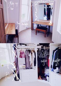 Make up + Dressing room for the models