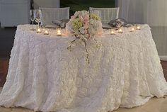 Elegant Caribbean wedding sweetheart table  by Weddings Romantique