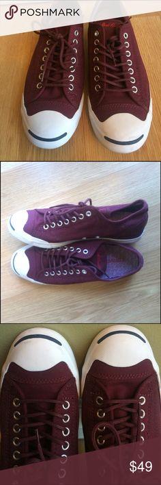 Converse Jack Purcell Converse Jack Purcell burgundy color, woman's USA size 10 men's size 8 . Woman's EUR 41.5 Converse jack Purcell Shoes Sneakers
