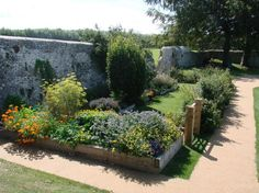 Herb Garden in Summer - The Priory of St. Pancras Lewes