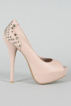 Nude heels  Love the studs