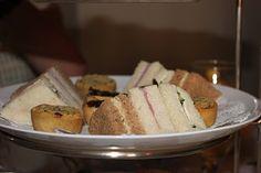 tea sandies.. egg salad, ham & cuke