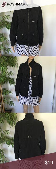 Size Large black Windbreaker Chinas brand but very stylish black Windbreaker size Large Nordstrom Jackets & Coats Puffers