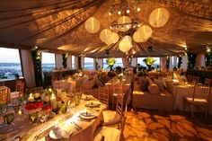 When looking up venues for your next possible event (during the summer times), check out venues that are close to the beach and or venues that have an open setting! Venues like the picture above seriously help out so much. From lighting, to the setting, to decorations.. Using a beach setting and or venue that is close to a beach setting lightens up your guests mood and gives them a reason to come even more!