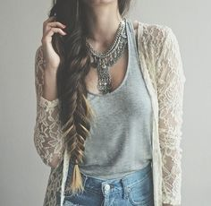 Love her hair and the outfit