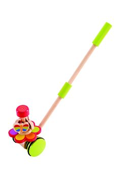 The Butterfly Garden Push Pal needs a little help to start the butterflies circling the flower blossom. Encourages your little one to get up and go and help the Butterflies dance.