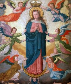 The miraculous image of Mary venerated in Müstair, Switzerland.